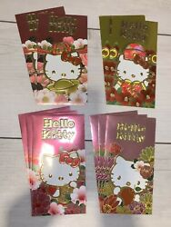 Chinese New Year Envelopes High Quality Red Foil 10 Pc Hello Kitty Lunar Money