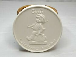 Goebel Collector's Club Member 1976 W. Germany Bisque Porcelain 4 Size With Box