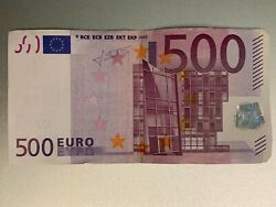 500 Euro Bank Note 2002 - X Series Germany Signed By Trichet