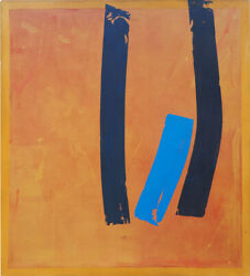 Original Vintage Abstract Expressionist Modern Painting By John Lennard Canada