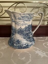 Olde English Countryside Blue By Johnson Brothers 32 Oz Pitcher Made In England