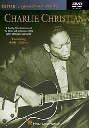 Charlie Christian Guitar Signature Licks By Andy Aledort English Dvd Book Fre