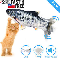Fish Realistic Cat Toy Electric Floppy Moving Catnip Toys Flopping NEW