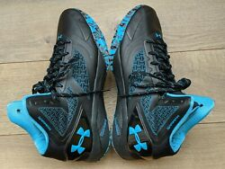 Men#x27;s Under Armour ClutchFit Drive II Black Teal Grey Basketball Shoes US 11 $55.00