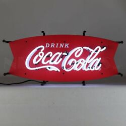 New Old Fashioned Drink Coca Cola Fishtail Neon Coke Sign Fast Shipping