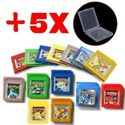 Classic Pokemon for Game Boy series Nintendo GBC Gold Silver Blue Red Green $9.50
