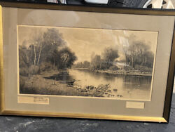 D.f. Hasbrouck Antique- Original Proof Signed By Artist And Etched Rare Find