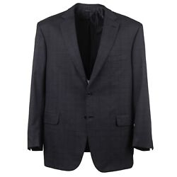 Brioni 'colosseo' Charcoal Gray Check Super 150s Wool-silk Suit 46r Nwt 7795