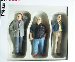 Preiser G Scale 122.5 Three Befuddled Men  Serious Situation Figures 44906