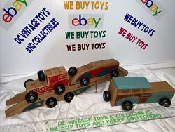 Holgate 638 Auto Convoy Trailer Vintage Toy 1940 Wooden Car Carrier Mixed Lot