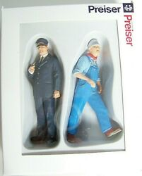 Preiser 45132 G Scale 122.5 U.s.conductor And Engineer Two Figures New In Box