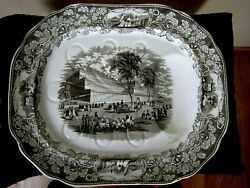 Greatest Expo Rarity 1851 Crystal Palace Exhibition Huge Porcelain Platter