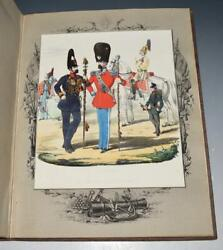 Collection Of Danish Military Uniforms Officer Class Illustrations Scarce Ca1860