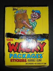 1985 Wacky Packages Stickers Full Wax Box 48 Packs Topps