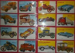 1955 World On Wheels Complete180 Card Set With Highs Topps Beautiful Set