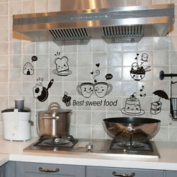 Fridge Coffee Stickers Removable Wall Stickers Room Wall Kitchen Stickers RPA