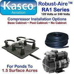 Kasco Aeration Robust-aire Ra1 For Ponds To 1.5 Surface Acres 120v Base Cabinet