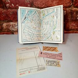 Vintage 1930s Travel Guide Book With Maps Epherma Museum Tickets Holland Rhine