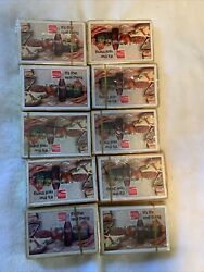 10 Packs Of 1971 Enjoy Coca Cola, Its The Real Thing. Sealed Deck Playing Cards.
