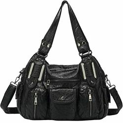 LL LOPPOP Hobo Bags For Women Multi Pocket Handbags Shoulder Ultra Soft Washed $44.79