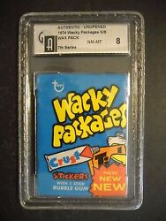 1974 Wacky Packages Pack 7th Series Graded Gai 8 Topps