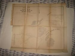 Large Superb Antique 1854 River St Clair Michigan Dated Map Detailed No Res.