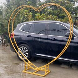 Background Stand Wedding Arch Prop Heart-shaped Wreath Stage Ceremony Decoration