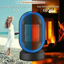 Toyuugo Space Heater 600W Electric Heater Small Electric Heater ocillating fan