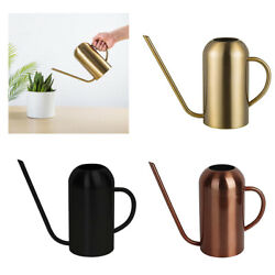 50oz Long Spout Water Cans Stainless Steel Watering Pot Cans Garden Flower