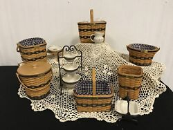 Andbull Longaberger Miniature Collectorand039s Club 13 Pc. Collection 1996-2002