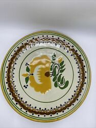 Vtg Signed Large Mexican Talavera Plate Dish Multicolor Flowers 6