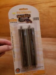 Bachmann N Scale E-z Track 5 Inch Straight Pack 6 Pcs Nickel Silver 44811 New