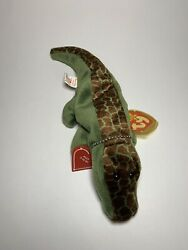 Ty Beanie Baby Ally The Alligator- Excellent Condition W/ Necklace 4032