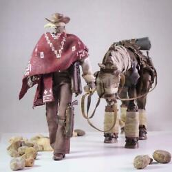 Threea 3a Blind Cowboy And Ghost Horse Set Hot Toy 1/12th Scale New In Stock