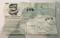 1974 Evil Knievel Stadium Stunt Cylcle Instructions - Only Instructions