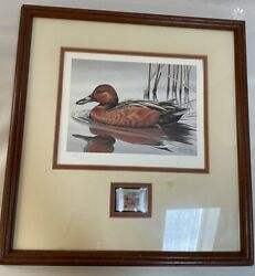 Ducks Unlimited 1985 Stamp Signed Numbered Print By G. Mobley Framed 4191/18200