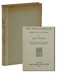 The Single Hound Emily Dickinson First Edition 1st 1914