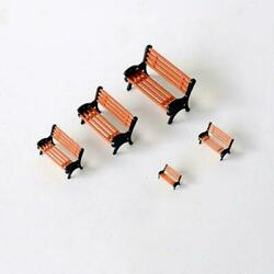 5x Super Real Park Street Bench Seat Models Micro Fairy Table Accessories C0e7