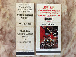 Lot Of Honda Motorcycle Matchbook Covers Irving Tx Pueblo Co The Right Choice