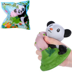 Vlampo Squishy Panda Potted 15cm Licensed Slow Rising With Packaging Collection