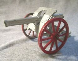 Barclay Manoil Military Field Artillery Cannon Red Spoke Wheels 1930s Toy Army