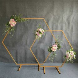 Hexagonal Arch Wrought Props Diamond Background Outdoor Lawn Road Guide Flower