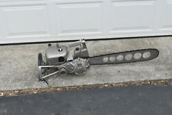 Vintage Collectible Pm Wood Boss Power Chainsaw 1940s Logging