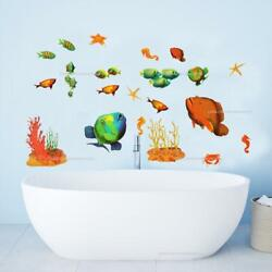 Tropical Fish Peel amp; Stick 23 Wall Decals Under the Sea Marine Life Room Sticker