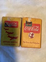 2 Vintage Coca-cola Playing Cards - 1941-1945