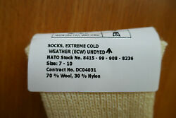 New - Army Issue Extreme Cold Weather Ecw Arctic Socks Size 7-10 - Pack Of Five