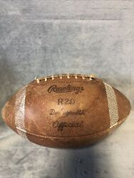 Vintage Rawlings Top Grain Leather Gyro Metric Football Made In Usa Don Meredith