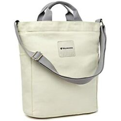 Canvas Tote Bag With Zipper And Pockets Casual Crossbody School Planner Hobo For $29.98