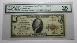 10 1929 Trumansburg New York Ny National Currency Bank Note Bill Ch 7541 Vf25