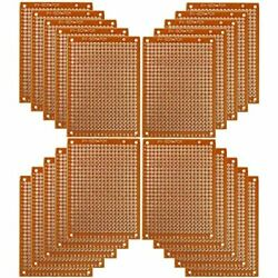 Copper Perfboard 20 Pcs Paper Composite Pcb Boards 5 Cm X 7 Cm Universal Sided